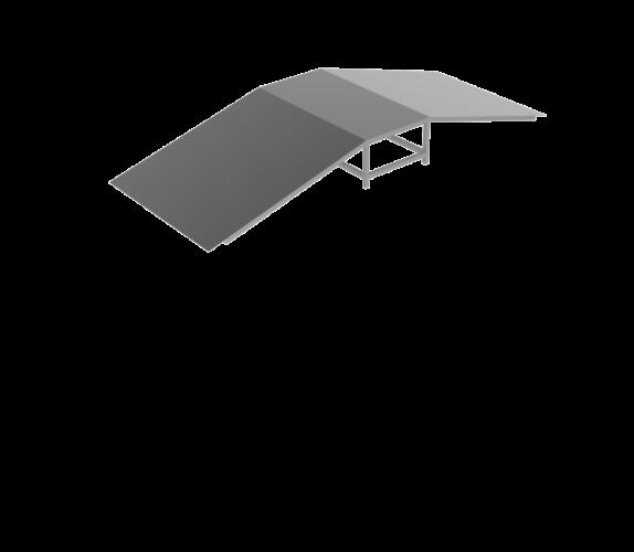 table avec deux inclinés