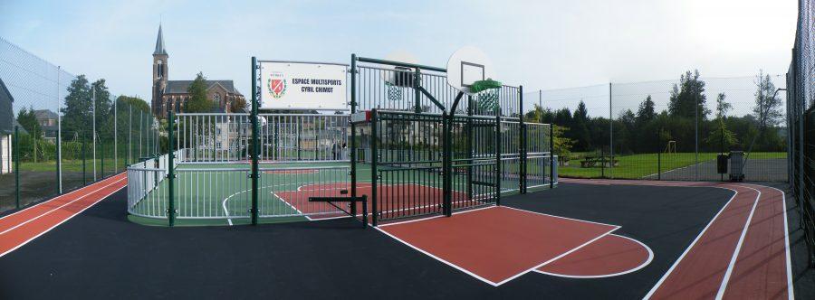 Multisports acier avec option basket en extérieur