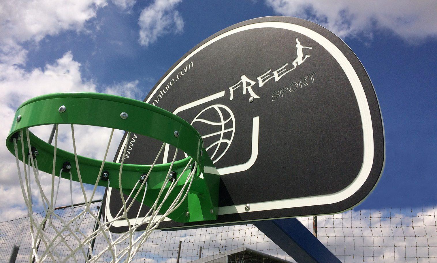 Panneau de basket pour terrains multisports ext rieur for Panneau agglomere exterieur
