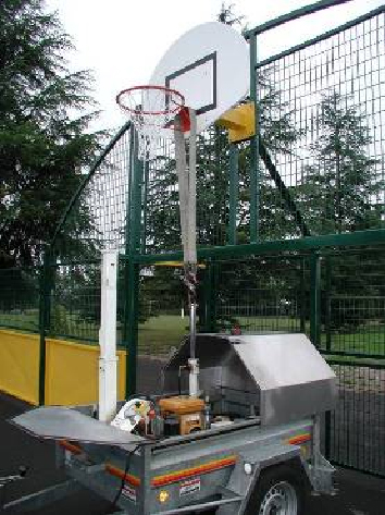 Test  d'un but de basket à l'entreprise